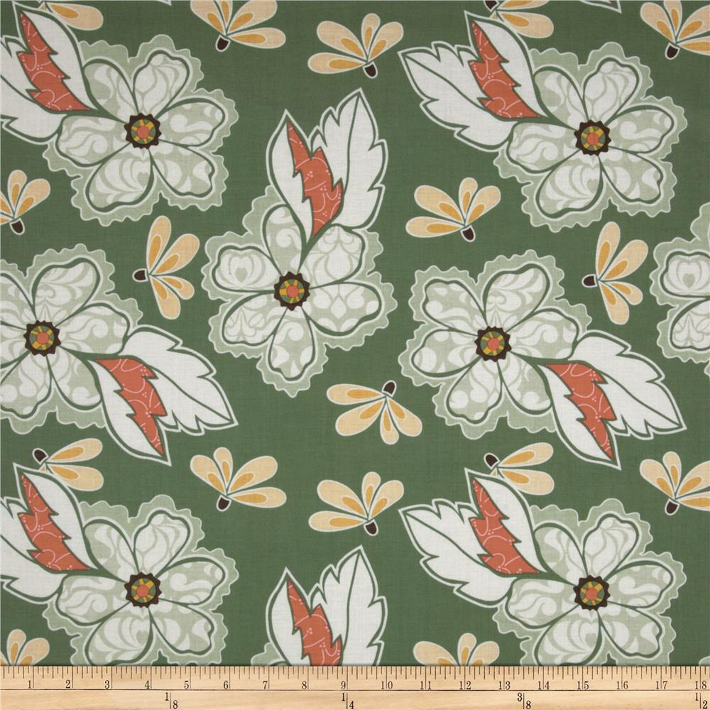 Riley Blake Valencia Large Floral Green