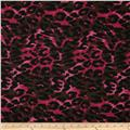 Cotton Blend Jersey Knit Cheetah Hot Pink