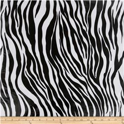 Oil Cloth Zebra Black Fabric