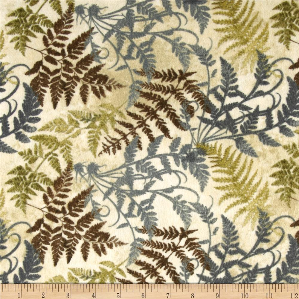 Stonehenge Hidden Valley Flannel Fronds Cream/Multi
