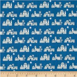 Christmas Pure & Simple Bethlehem Cobalt Fabric