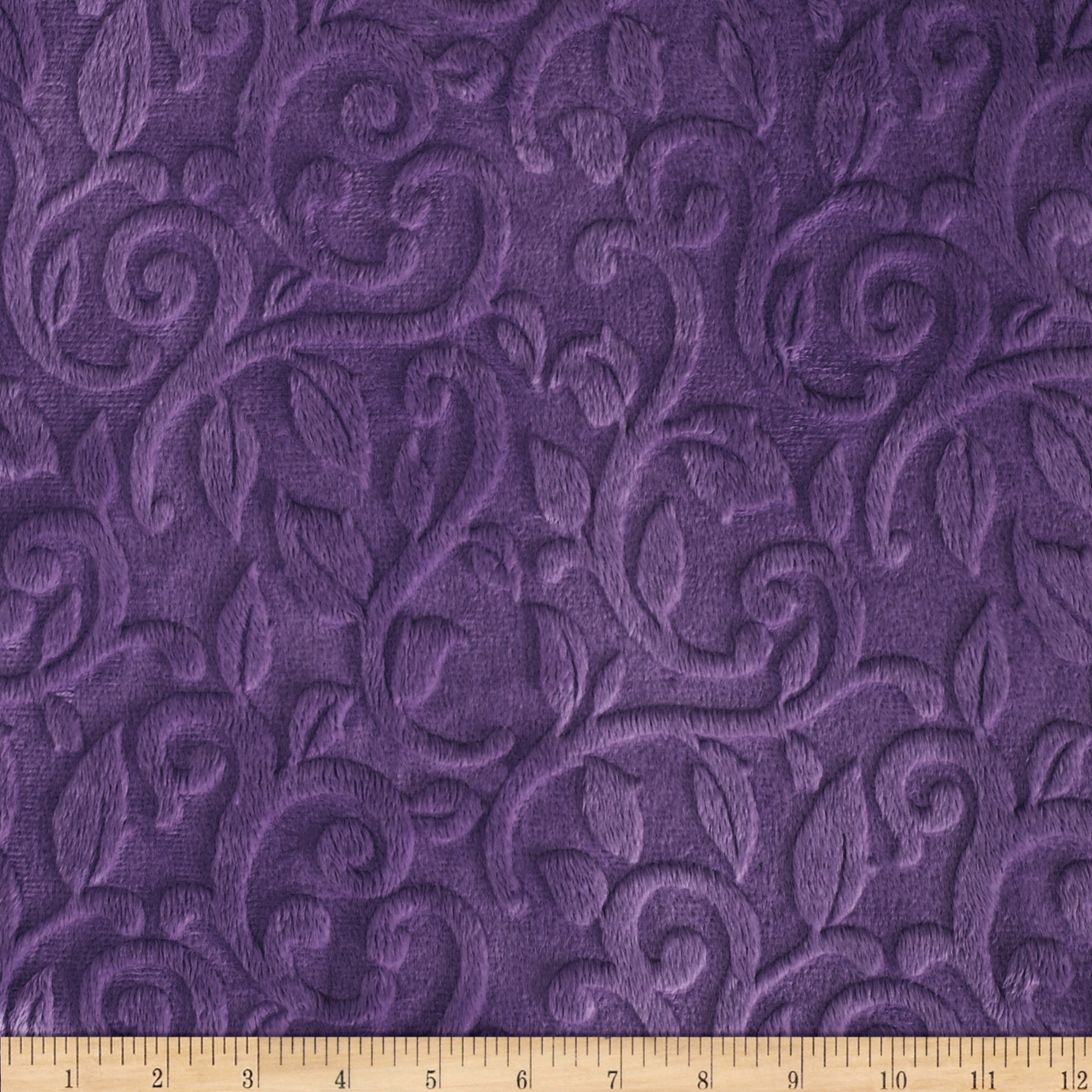 Shannon_Minky_Cuddle_Embossed_Vine_Violet_Fabric