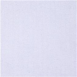 Stretch Bamboo Rayon Rib Knit Solid White Fabric