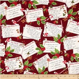 Robert Kaufman Holly Jolly Christmas Recipe Cards Holiday
