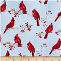 Winter Cardinals Small Cardinals Light Blue