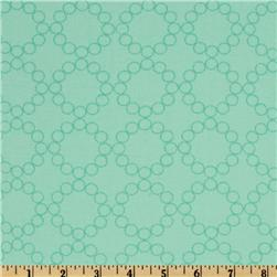 Moda Cherry Christmas Circle Wreaths Peppermint Aqua
