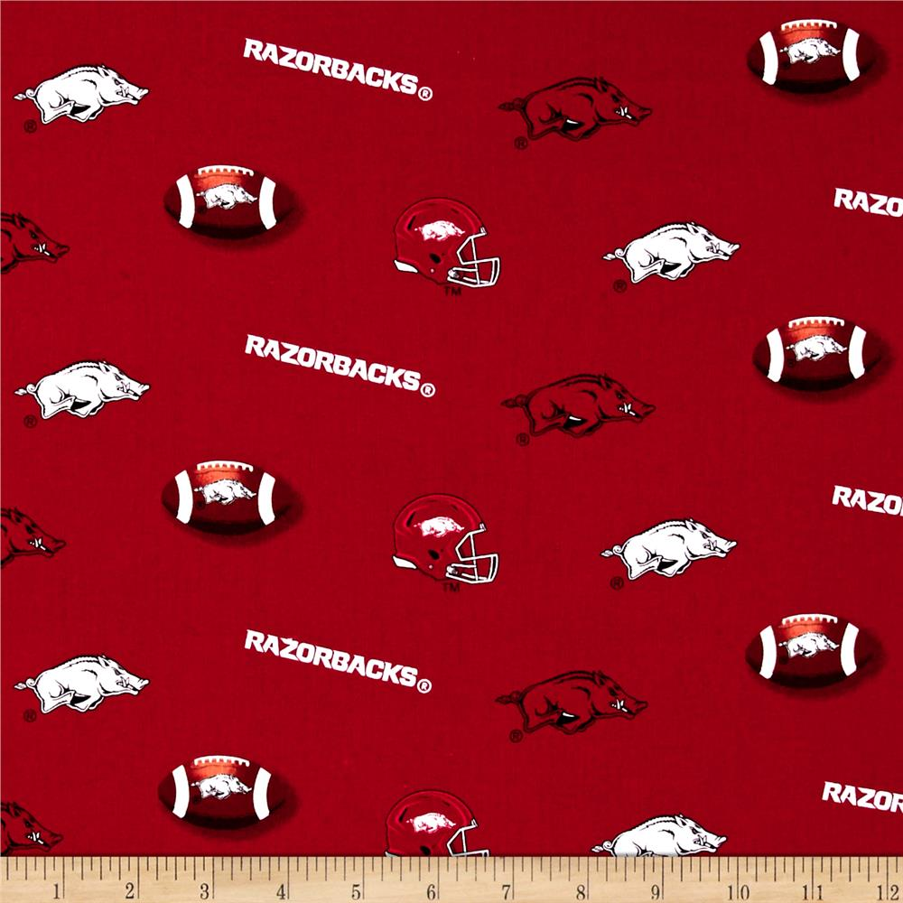 Collegiate Cotton Broadcloth University of Arkansas Cardinal