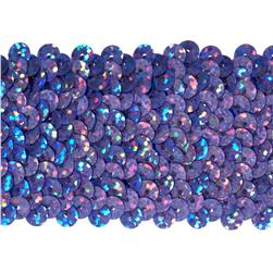 "1 3/4"" Hologram Stretch Sequin Trim Lavender"