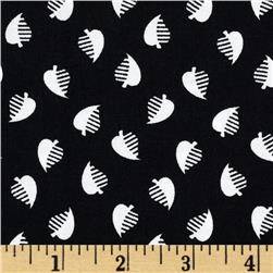 High Definition Small Leaf Black/White