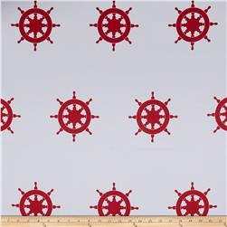 RCA Blackout Drapery Fabric Captain's Wheel Red