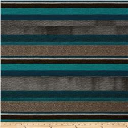 Sydney Stretch Crepe Knit Stripe Blue/Multi Fabric