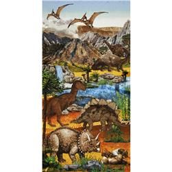 "Kids Prehistoric Stonehenge 24"" Panel Multi"