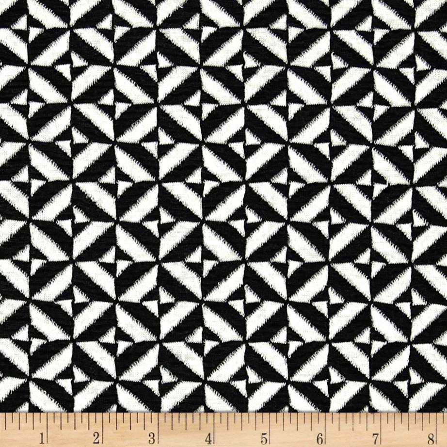 Ace Jacquard Knit Tile Black/White