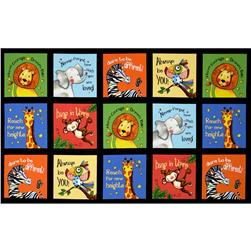 Think Positive Animal Blocks Panel Black