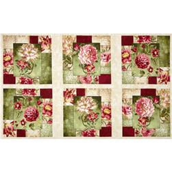 Hope's Promise Large Floral Panel Cream/Green/Pink