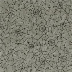 Moda Pumpkin Party Cobwebs Spider Grey