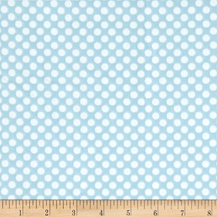 Comfy Flannel Dot Blue/White Fabric by A. E. Nathan in USA