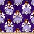 Disney Flannel Sofia Poses Purple