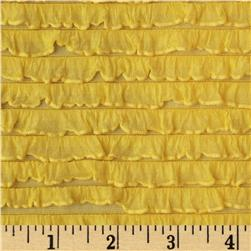 Bisou Stretch Mini Ruffle Knit Yellow