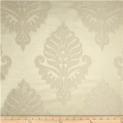 World Wide Rowley Metallic Damask Satin Jacquard Ivory