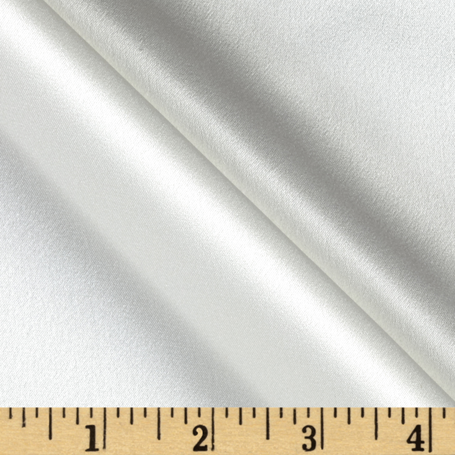 Image of 100% Silk Charmeuse Ivory Fabric