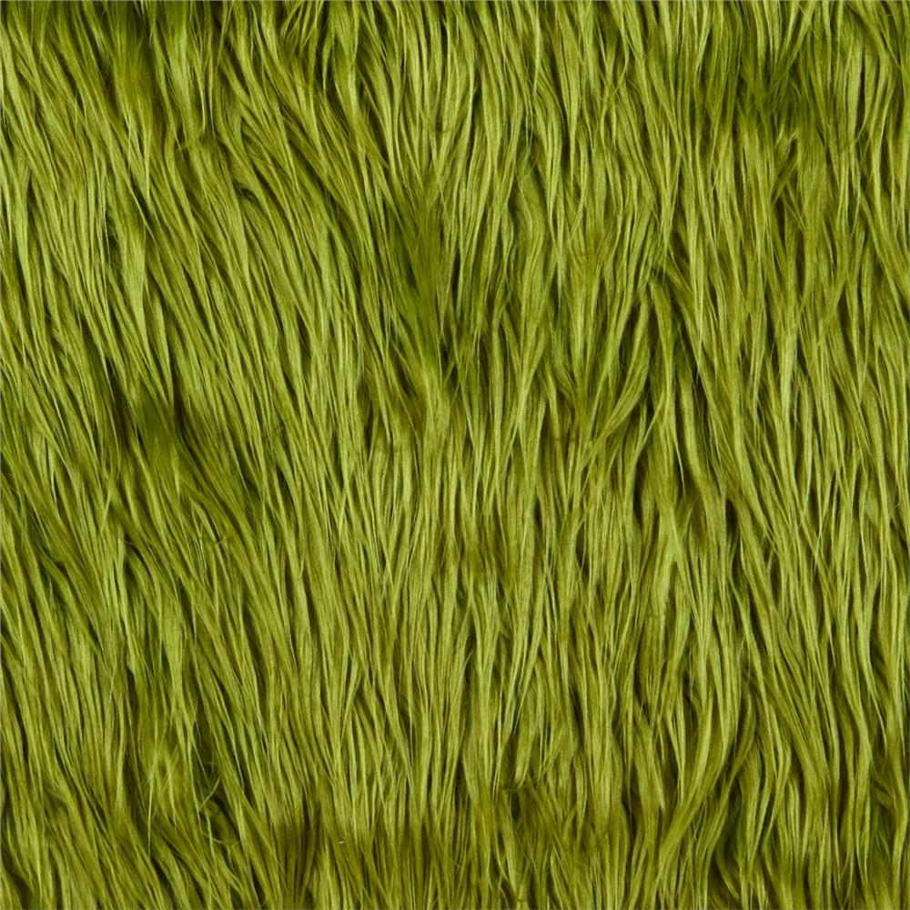 Shannon faux fur mongolian olive discount designer for Fabric material for sale