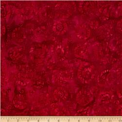 Tonga Batik Punch Leaves Crimson