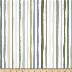 Paintbox Shadows Stripe Taupe/White Fabric