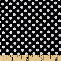 Happy Halloween Dotties Black/White Fabric