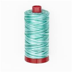 Aurifil 12wt Variegated Embellishment and Sashiko Dreams Thread Creme de Menthe