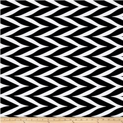 ITY Stretch Knit Zig Zag Black/White