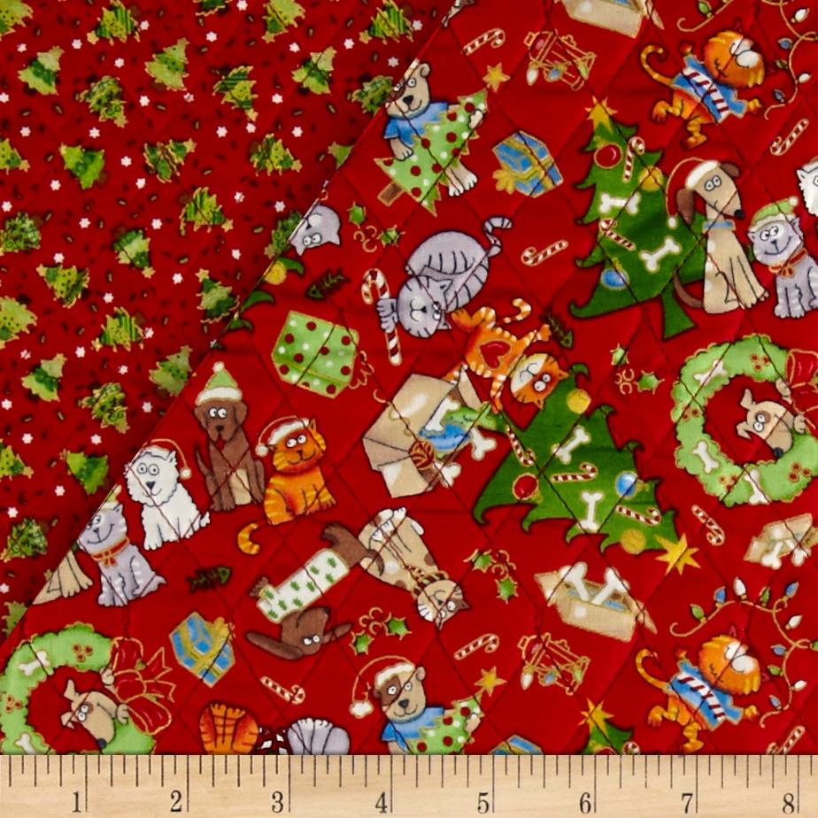Christmas 2015 Double Sided Quilted Dogs Amp Cats Multi