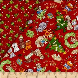 Christmas 2015 Double Sided Quilted Dogs & Cats Multi