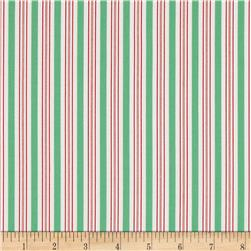 Moda Sugar Plum Christmas Candy Cane Stripe Icing Green