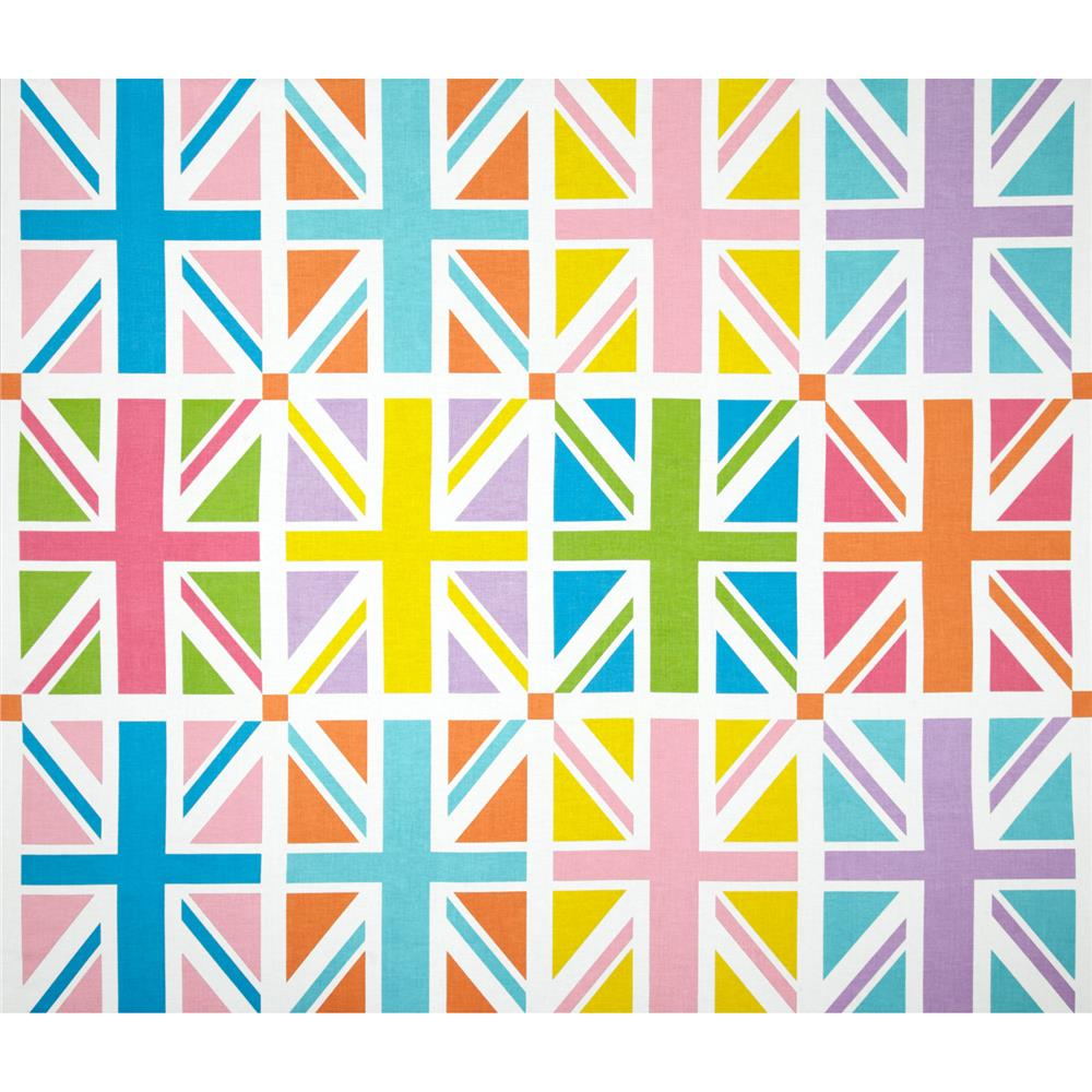 "Riley Blake Union Jack 24"" Panel Orange"