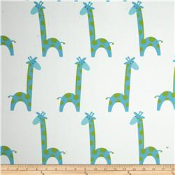 RCA Giraffe Blackout Drapery Fabric Capri Blue