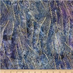 Indian Batik Montego Bay Leaf Metallic Blue/Purple