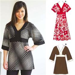 Kwik Sew Kimono-Style Tunic and Dress Pattern