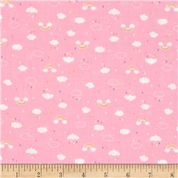 Lecien Minny Muu Tiny Clouds and Raindrops Pink