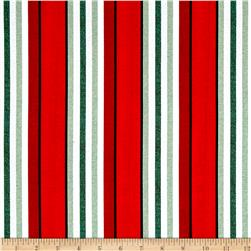 Timeless Treasures Fresh Cut Awning Stripe Red