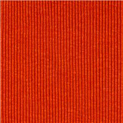 Rib 2x1 Knit Solid Pumpkin