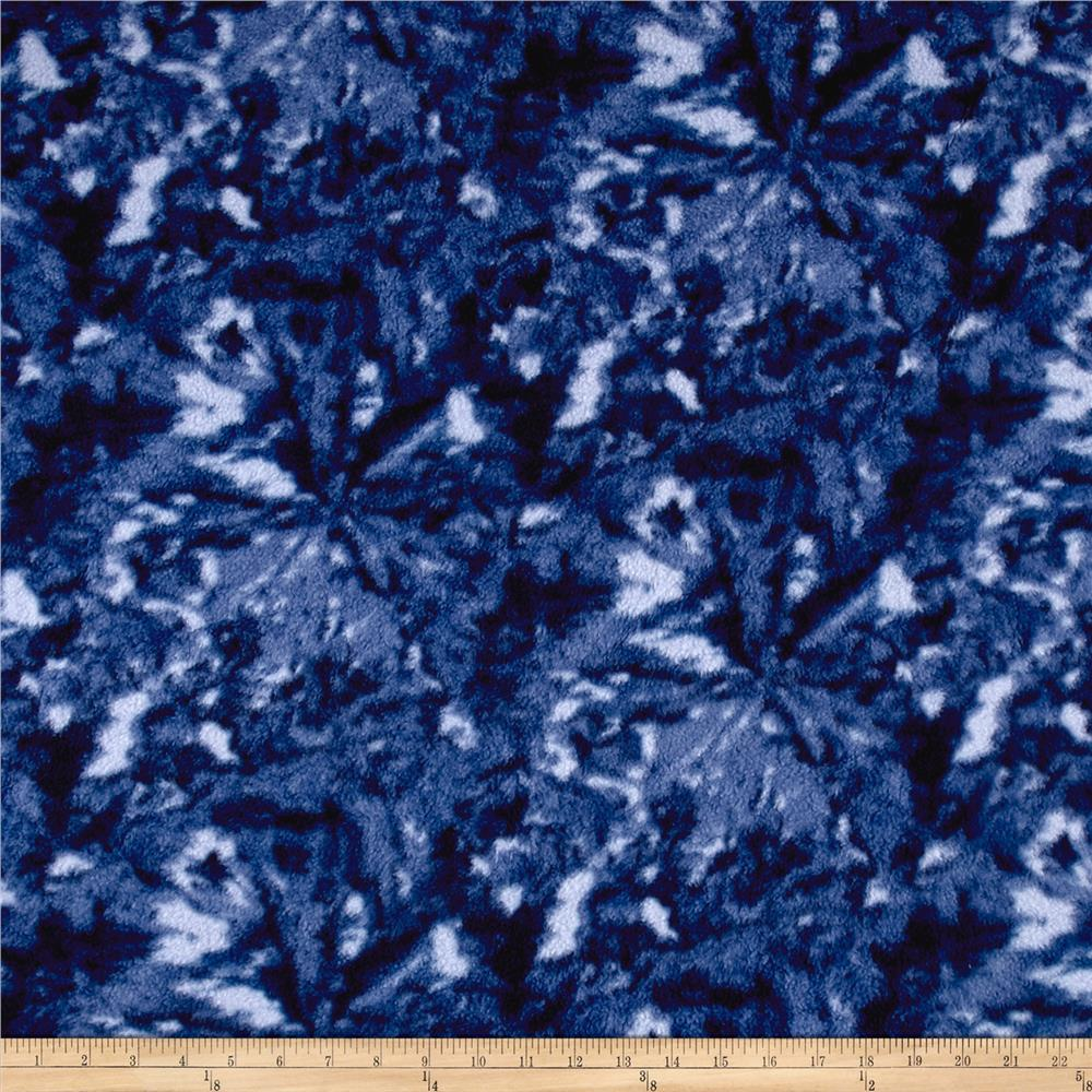 Fleece Print Abstract Blue Fabric By The Yard