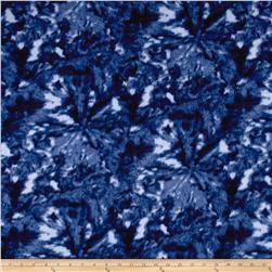 Fleece Print Abstract Blue