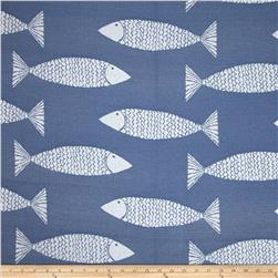 P Kaufmann Indoor/Outdoor Jacquard Catch My Drift Nautical Blue