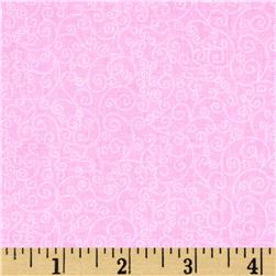 Timeless Treasures Fairy Tale Mini Scroll Pink