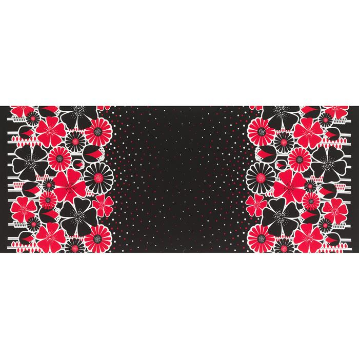Timeless Treasures Floral Double Border Black