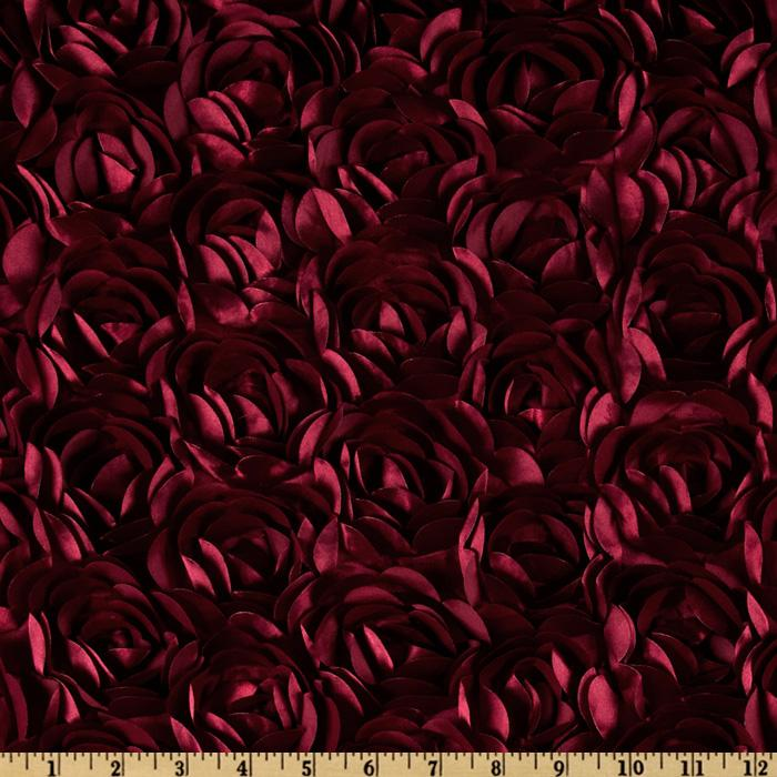 Loveable Satin Ribbon Rosette Burgundy