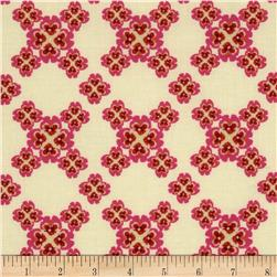 Secret Garden Cross Your Heart Linen Cream Fabric