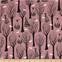 Cotton & Steel Spellbound Metallic Trees Purple