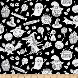 Michael Miller Color Me Trick or Treat Black